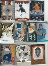 BASEBALL RESALE LOT (128) CARDS ALL AUTOGRAPH RELIC SERIALRC OR PROMO #'D /25