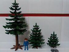 PLAYMOBIL LOTE DE ABETOS ARBOLES VEGETACION DIORAMA BOSQUE CAMPO FOREST TREE