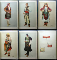 1959 Folk art in Albania Costumes Russian USSR Vintage Illustrated Book Rare Old