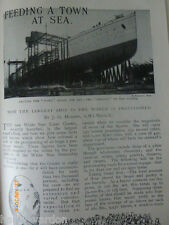 White Star Line Oceanic Liner Ship Rare Old Victorian Antique Photo Article 1899