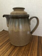 Vintage Denny Romany Stoneware Teapot Brown Speckled 2-piece England