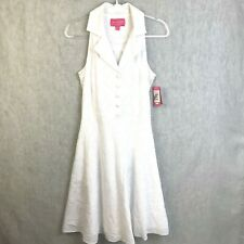 New Lilly Pulitzer Fit and Flare Button Front Dress Size 8 White Eyelet Summer