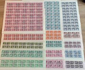 """Briefmarkenbogen gestempelt DDR 1981 u. 1982 """"Sozialistischer Aufbau"""" TOPZUSTAND"""