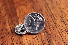 Lapel Pin, Silver history pin Mercury Dime Tie Tack, Mercury Dime