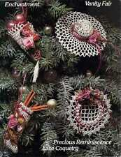 VICTORIAN Christmas CROCHET Patterns LACE Ornament GIFT BOX Keepsakes SNOWFLAKE
