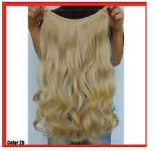 """GOLDEN BLONDE #25  HALO STYLE WIRE HAIR EXTENSIONS 20"""""""