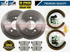 FOR SSANGYONG REXTON 2.7 OE QUALITY REAR 299mm SOLID BRAKE DISC PADS SHOES 2007-