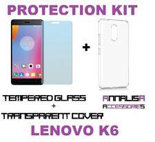 KIT COVER + PELLICOLA VETRO TEMPERATO LENOVO K6 NOTE K53A48 CASE +TEMPERED GLASS