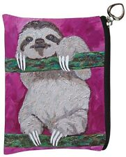 Sloth Change Purse,Coin Wallet - From my Original Oil Painting, Leisurely Life