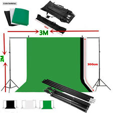 Background Stand Kit Photography Set + Photo Studio Black White Green Backdrop