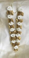 Indian Bollywood (asian) artificial  wedding garlands Gold And Ivory
