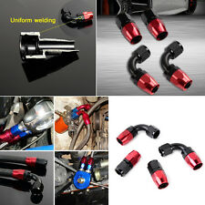 4 x Aluminum Black&Red AN6 0°+90° Swivel Oil/Fuel/Air/Gas Line Hose End Fitting