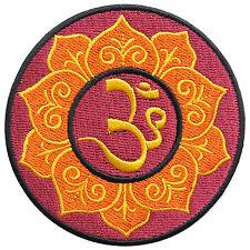 Aum Om Ohm Lotus Infinity Hindu Hinduism Yoga Peace Trance Iron-On Patch #AU022