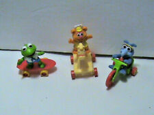 3 muppet babies McDonald's Happy meal Kermit Frog on skate Gonzo Tricycle Fozzie