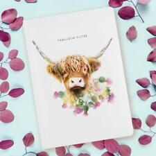 Lola Design, A5 Notebook,  Highland Cow NB-059 Luxury Notebook, journal