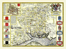 Contemporary 1600-1699 Date Range Antique Europe County Maps
