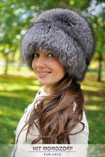 BLUE FROST FUCHS Pelzmütze Silberfuchs Schapka Damen Fox Fur Hat Fellmütze Mütze