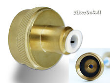 Solid Brass Hose adapter connect RO/DI water system to Garden Laundry outlet
