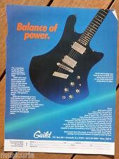 retro magazine advert 1983 GUILD guitars