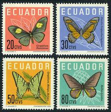Ecuador 680-683, MNH. Butterflies, 1961