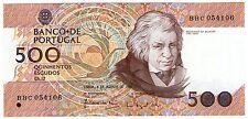 **   PORTUGAL     500  escudos   1988   p-180b2    UNC   **