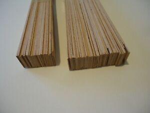 ca. 50 Stück Buche 1-3x30mm 74cm lang Holz Leiste Modellbau