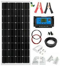 150W Solar Panel Mono 12V Kit White Mounting Brackets for Caravan Boat Motorhome