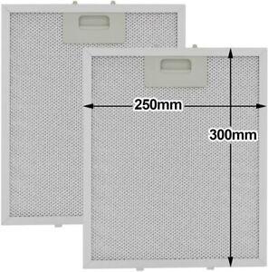 Rangemaster 2 x Silver Grease Filter For RANGEMASTER Cooker Hood Metal Filters 2