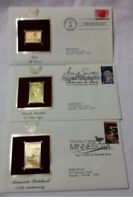 First Day Issue Lot of 3 Golden Replica Stamps ~2008~Sinatra~Minnesota~Love