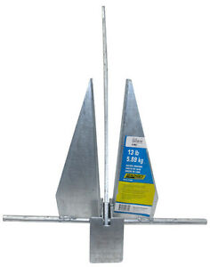 SeaChoice Hot-Dipped, Galvanized Deluxe Anchor, 25' to 30' Boats - 41730