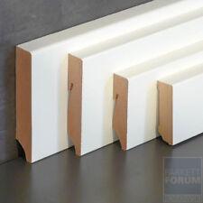 Fußleiste Cube Design Sockelleiste 60 / 80 mm weiß lackiert
