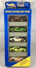Hot Wheels Track System 5 Pack Gift Set Gold 7 Spokes - 1994 NOS