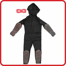 KIDS CHILDRENS-NINJA WARRIOR JUMPSUIT+MASK-SUPER HERO-VAMPIRE HALLOWEEN COSTUME