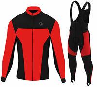 DHERA Mens Thermal Cycling Bib Tights Winter Thermal Gel Padded Cycling Pants
