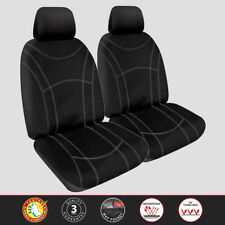 Custom Neoprene Front Pair Black Seat Covers for Toyota Prado 2010-On
