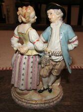 Rare Meissen 1763-64 C66 Tanzgruppe Porcelain Figurine Dancing Couple MA Acier