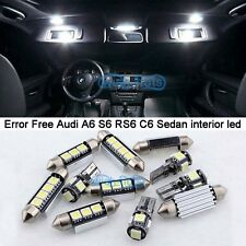 Interior White Canbus LED Light Kit For 2005-2011 Audi A6 S6 RS6 C6 Sedan M+Tool