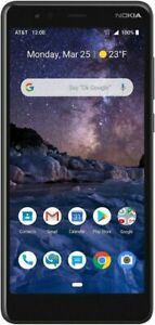 New Orignal Nokia 3.1  16 GB Android GSM Unlocked Smart Phone  Black Color