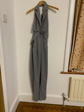 FULL CIRCLE TUXEDO STYLE JUMP SUIT JUMPSUIT 10 grey new SEXY OPEN BACK