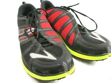 Brooks Pure Grit 2 Red Black Green Mens Multicolored Running Shoes Size US 10.5
