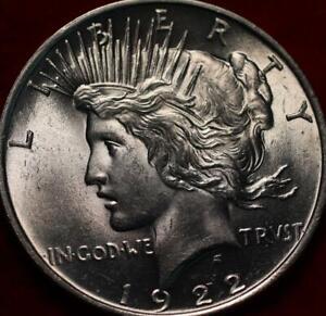 Uncirculated 1922 Philadelphia Mint Silver Peace Dollar