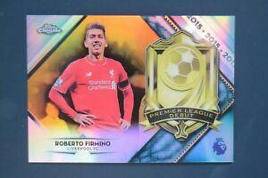 ROBERTO FIRMINO Premier League Debut gold /50 2018/19 Topps Chrome