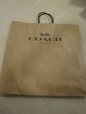 Coach brown paper shopping bag size 18.5 X 18 X 7 pre owned