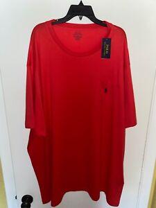 New w/Tags Polo Ralph Lauren Red 4XLT 4XT Tall T-Shirt w/Pocket