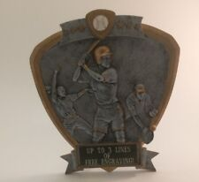 Female Shield Softball Resin Trophy! Free Engraving! Ships In 1 Business Day!