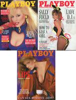 PLAYBOY Lot of 3 1986-Sally Field,Victoria Sellers,Jeffrey McDonald Intvw,LadyDJ