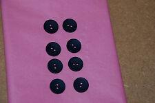 8 x 15mm Blue Buttons