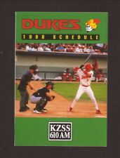 Paul Konerko--1998 Albuquerque Dukes Pocket Schedule--KZSS/NationsBank--Dodgers