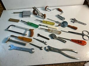 Lot Of 20 Miniture Mico Metalic Hand Tools Functioning Tools