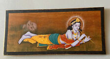 Vintage Hand Painted Krishna On Sandalwood